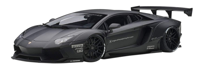 AUTOart Liberty Walks LB-Works Lamborghini Aventador matt schwarz Modellauto 1:18