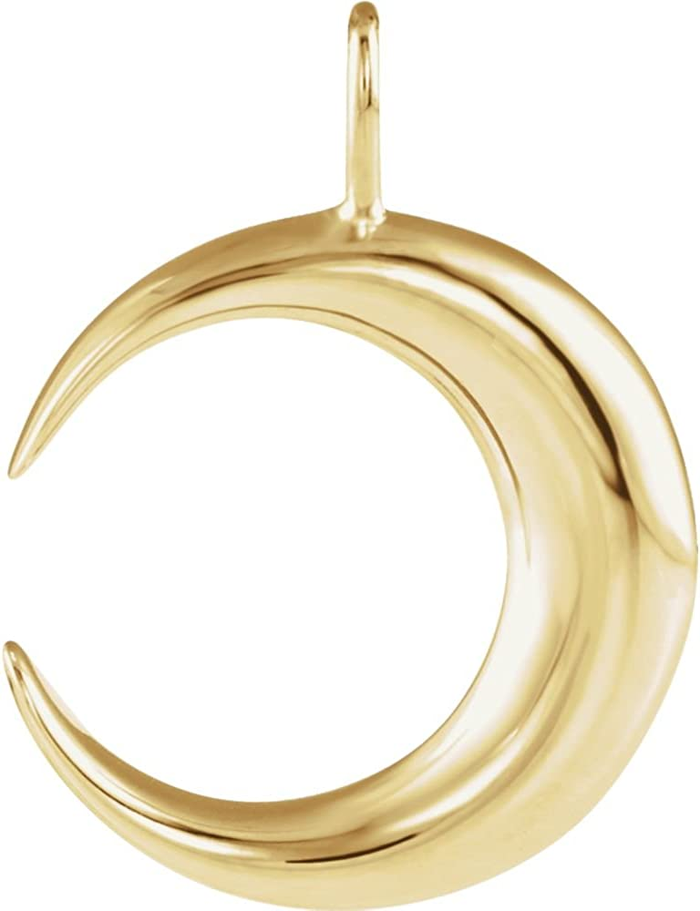 Jewels By Lux 14K Yellow Gold Crescent Moon Pendant