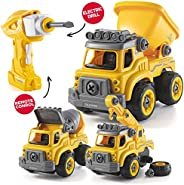 Take Apart Toys with Electric Drill | Converts to Remote Control Car | 3 in one Construction Truck Take Apart
