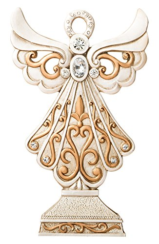 (Fashioncraft Magnificent Antique Design Angel Statue in Ivory and Matte Gold)