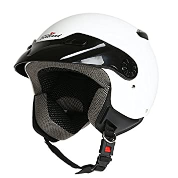 Rodeo Drive 120014 Easy Casco para moto D/Jet, blanco, XL (60