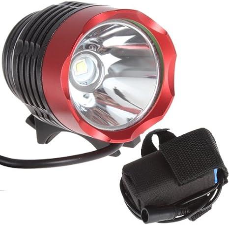 Foco CREE XM-L T6 LED Alta potencia para bicicleta 1800LM + ...