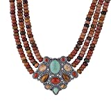 American West Multi Gemstone Statement Necklace