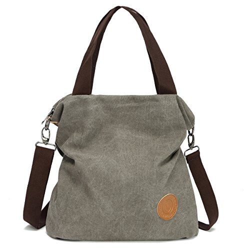 Casual Shoulder Purses Handbags Canvas Tote Bags Crossbody Bags for Women - Gray