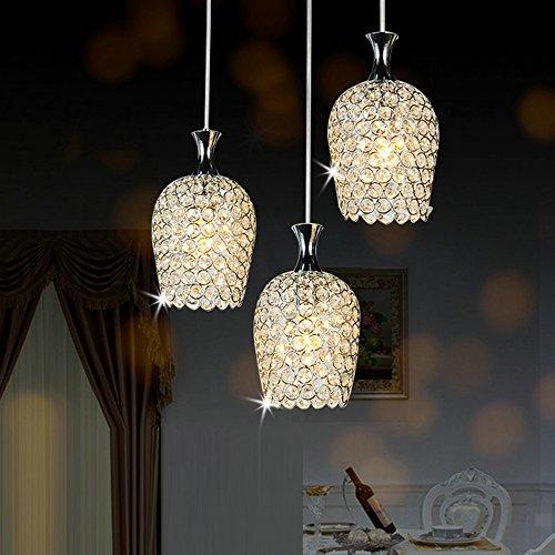 dinggu modern 3 lights crystal pendant lighting for modern pendant lighting kitchen island home design ideas