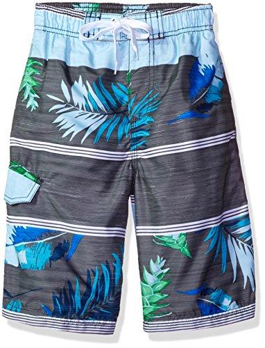 Kanu Surf Boys Condor Stripe Floral Swim Trunk