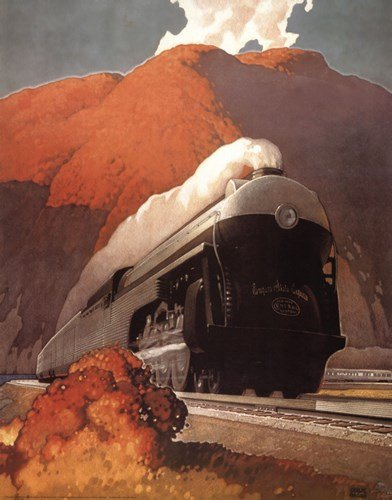 New Empire State Express - 22x28 Inches - Art Print Poster - New Empire State Express