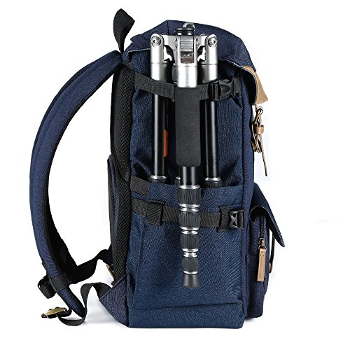 51j9E0gPoXL - K&F Concept Multi-Functional Camera Backpack 600D Polyester Waterproof Photography Equipment Travel Bag for Tripod,DSLR Canon Nikon Sony and Accessory with Rain Cover