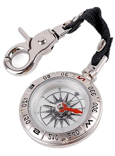- Snowmanna-Classic Pocket Watch Style Compass Portable Outdoor Navigation Tools Survival Compass with Keychain