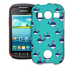 Phone Case For Samsung Galaxy S7710 Xcover 2 - I Whale Always Love You Hardshell Lightweight