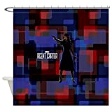 CafePress - Agent Carter Squares - Decorative Fabric Shower Curtain