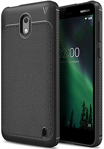Nokia 2 case, KuGi SS [Scratch Resistant] Premium Flexible Soft Anti Slip TPU Case for Nokia 2 smartphone (Black)