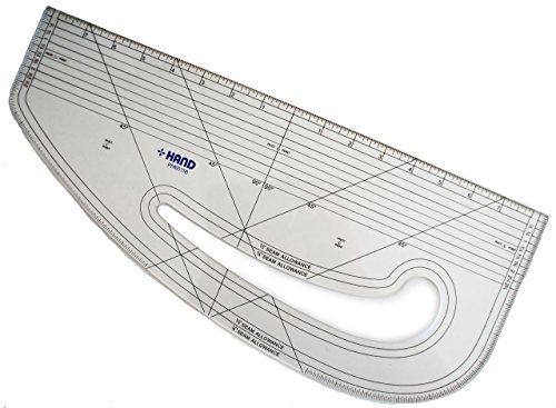 HAND 6511B Imperial Pattern Marking Ruler - Hard Plastic ()