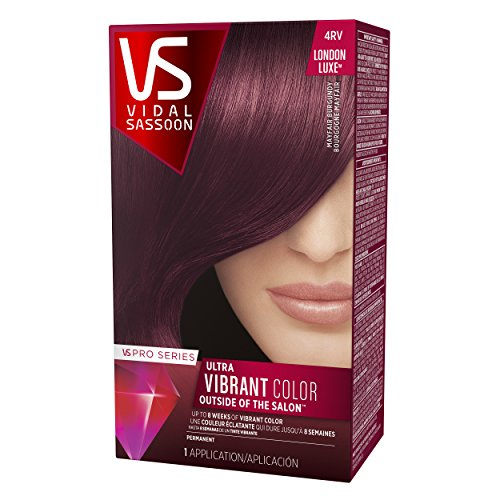 vidal sassoon hair colors dark brown amazoncom vidal sassoon pro series london luxe hair color kit 4rv mayfair burgundy count pack of 3 beauty kit
