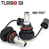 Turbo SII 9007 Led Headlight Conversion Kits HB5 High Low Beam Headlight Bulbs 8000Lm SEOUL-Y19 CSP Chips All in One LED Car Light Replace for Halogen or HID Bulbs