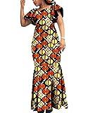 Highisa Women's Dashiki Graphic Party Batik Plus Size Cocktail Maxi Dress 11 2XL