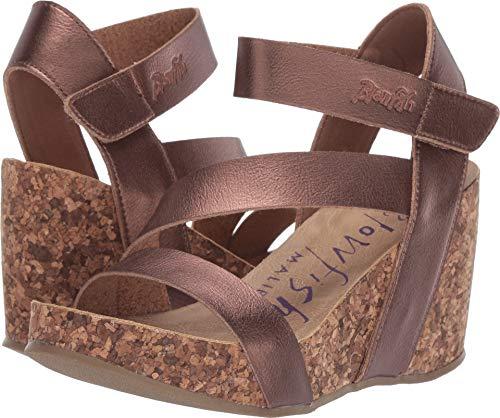 Blowfish Malibu Women's Hapuku Wedge Sandal (7, Amber Dyecut)