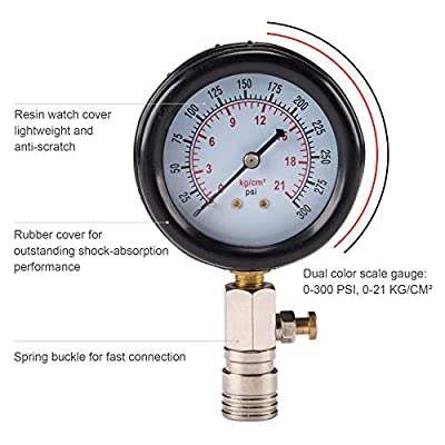 Orion Motor Tech Compression Tester, 8PCS Cylinder Pressure Gauge for Gas Engine: Automotive