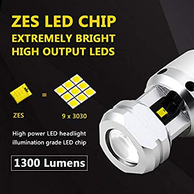 Phinlion 912 921 LED Backup Light Bulbs RV 2600 Lumens Super Bright ZES SMD T15 906 W16W Back Up Reverse Lights with Projector, 6000K Xenon White: Automotive