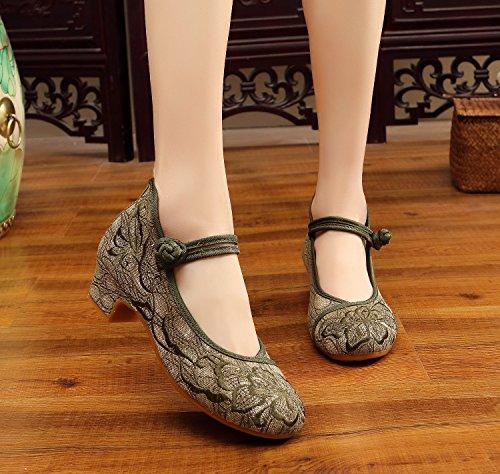 Scarpe Tacchi green Le Ricamati Matrimonio Unica Da Le Piazza Pechino Donna Ballo Abiti Scarpe Scarpe KPHY Vecchia Scarpe China Scarpe Scarpe vZR88q