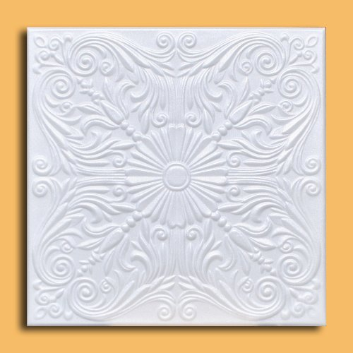White Styrofoam Ceiling Tile Astana Package of 8 Tiles  Other Sellers call this Spanish Silver and R139