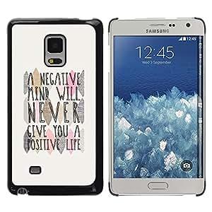 Caucho caso de Shell duro de la cubierta de accesorios de protección BY RAYDREAMMM - Samsung Galaxy Mega 5.8 9150 9152 - Mind Positive Life Quote