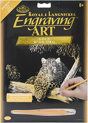 ROYAL BRUSH Gold Foil Engraving Art Kit, 8-Inch by 10-Inch, Spotted