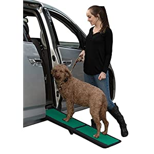 Pet Gear Travel Lite Bi-Fold Ramp for Cats/Dogs, Lightweight/Portable, Safety Tether Included, Rubber Grippers for Stability 3