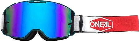 O Neal B20 Plain Goggle Mx Dh Brille TÃŒrkis Rot Radium Blau Oneal Sport Freizeit