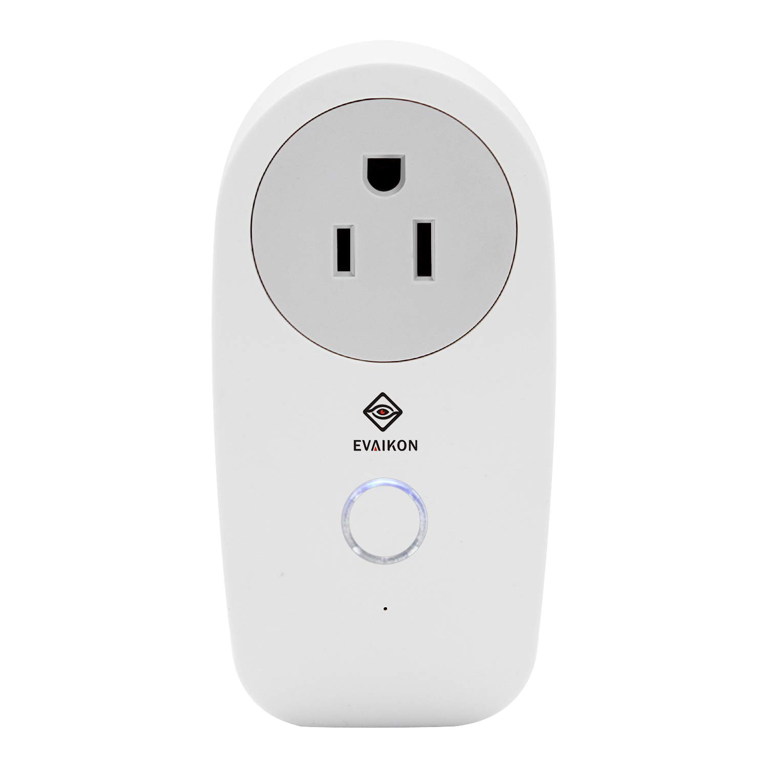 Smart Wireless WiFi Plug Socket - EVAIKON Plug Remotely Control Electrical Digital Power Timer Switch ON/OFF,Compatible with Alexa and Google home,No Hub Required,controled by Android/iOS Devices