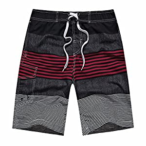 ZIITOP Men's Swim Trunks Board Shorts Swim Shorts Long Quick Dry Beach Shorts Bathing Suit