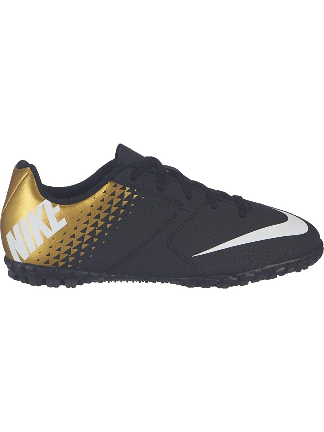 Nike Junior Bomba TF Turf Soccer Shoes Black//White//Gold