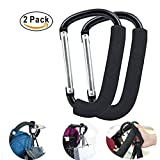Stroller Hook Organizer Accessories for Hanging Diaper, Shopping Bags, Purses. Fits All Car Seats, Baby Joggers, Prams, Shopping carts. Durable& Lightweight& Multi Purpose, 2 Pack