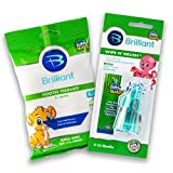 Baby Buddy Wipe-N-Brush & 30 Wipes Stage 3 for Babies/Toddlers, Kids Love Them, Green