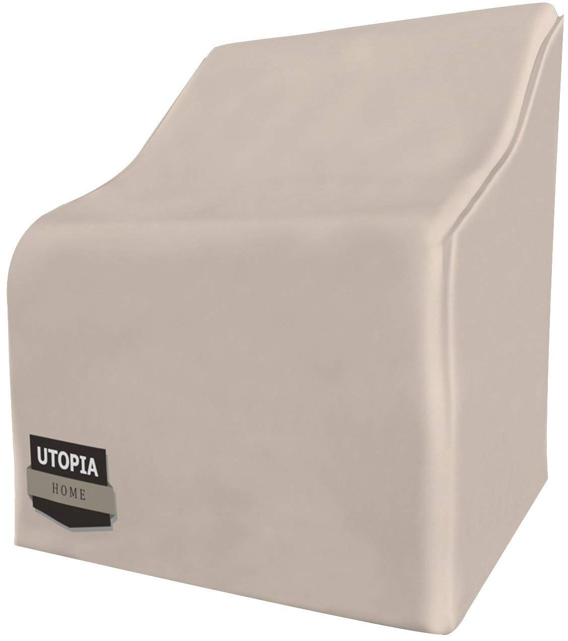 Utopia home outdoor furniture covers with 35 inches high double stitching water resistant outdoor chair covers medium patio covers with click close