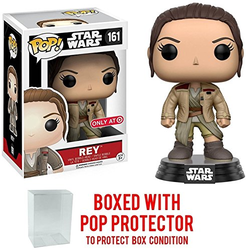 Funko Pop! Star Wars: The Force Awakens - Rey #161 w/ Finn's Jacket Target Exclusive Vinyl Figure (Bundled with Pop BOX PROTECTOR CASE)