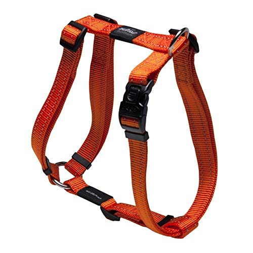 Reflective Adjustable Dog H Harness for Extra Large Dogs; Matching Collar and Leash Available, Orange