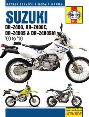 amazon com 00 09 suzuki drz400s haynes repair manual misc rh amazon com 2006 suzuki drz400sm owners manual 2008 DRZ400SM