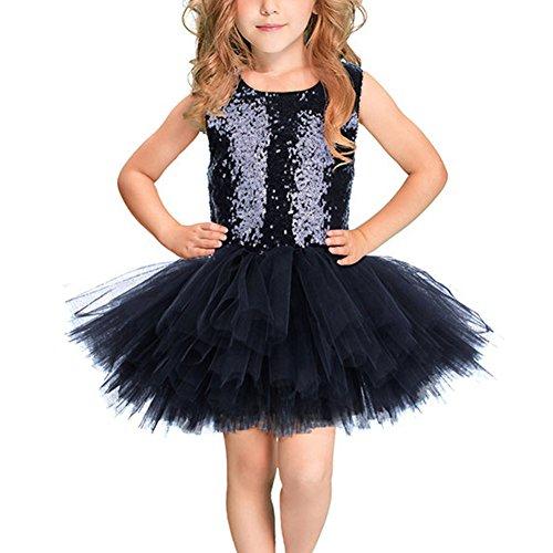 - IWEMEK Kids Girls Princess Sequined Camisole Ballet Tutu Flower Dress Ballerina Sweetheart Leotard Outfit Dancewear Costumes