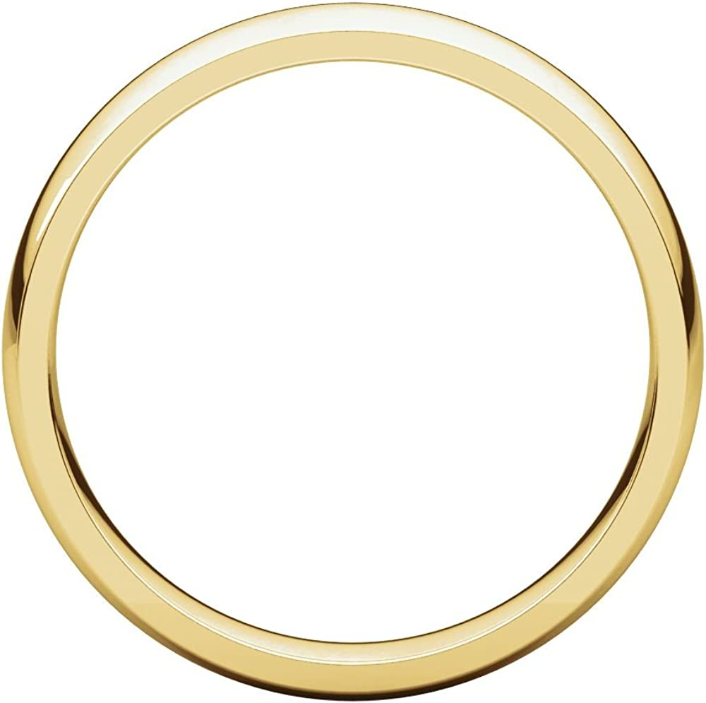 10K Yellow Gold 4mm Light Comfort Fit Band