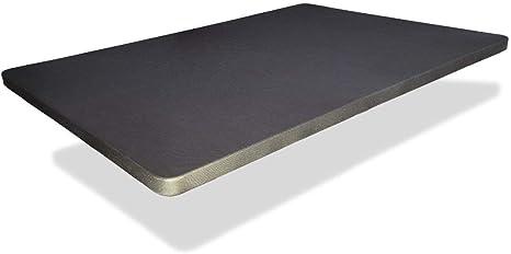 Base tapizada 150x190 cm, 6CM Grosor. Color Gris Marengo. SIN Patas 5 Refuerzos TRANSVERSALES, Tubo 40x30 MM, Tejido 3D Transpirable,