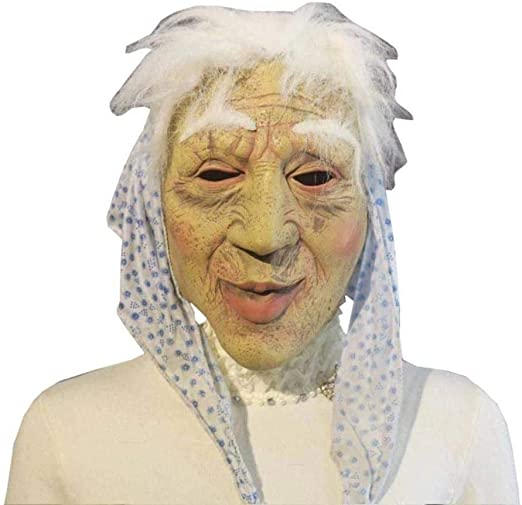 Feo Máscaras de Miedo de Halloween Máscara de látex Arrugada ...