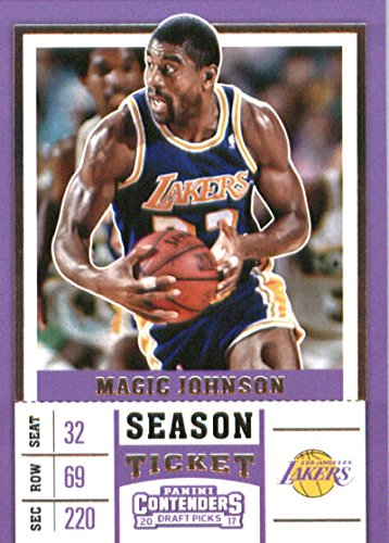 Basketball NBA 2017-18 Panini Contenders Draft Picks Season Ticket #37 Magic Johnson Lakers