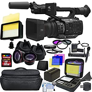Panasonic AG-UX180 4K Premium Professional Camcorder with CINEMAGIC Studio Bundle