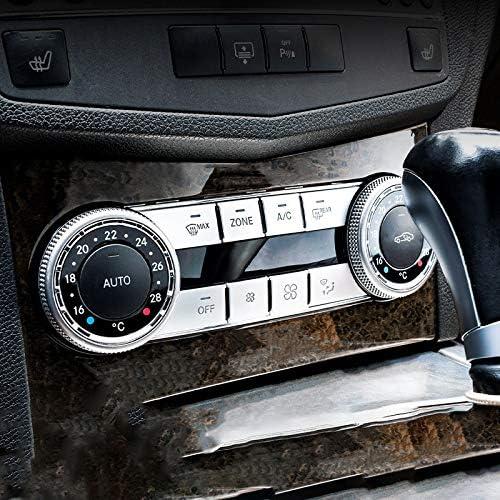 LNIMI Lot de 8 caches de boutons de contr/ôle du volume pour Mercedes C Glk CLS Ml Gle W204