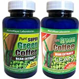 MaritzMayer Laboratories - Green Coffee Bean Extract ~ 1 Bottle 800mg Green Coffee Extract ~ 1 Bottle with 800mg Green Coffee Bean Extract Plus 100mg Raspberry Ketone (Total 2 Bottles of 60 Caps Each) Contains Some Chlorogenic Acids