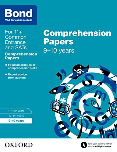 Read Online Bond 11+: English Comprehension Papers: 9-10 years by Michellejoy Hughes (2015-03-05) ebook