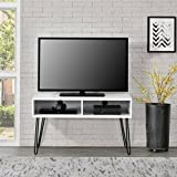 "Industrial Retro Style Flat Panel 42"" White TV Stand"