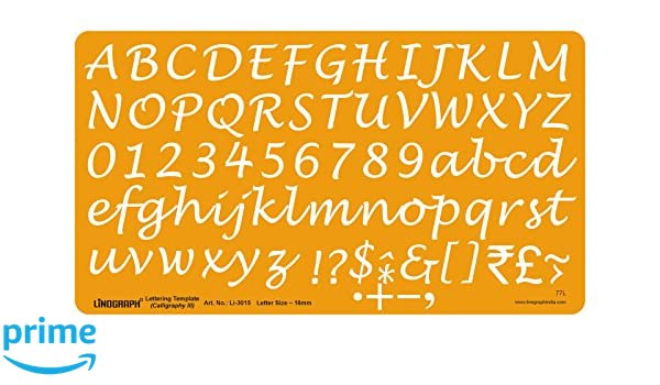 Linograph Lettering Template Calligraphy III Letter Drawing Drafting Stencil 18 mm