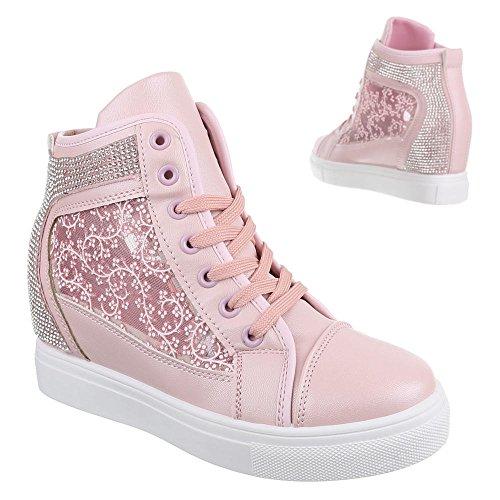 Ital-Design - zapatos de tiempo libre Mujer Rosa - rosa